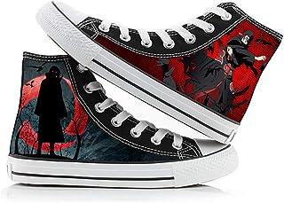 XYUANG Naruto Uchiha Itachi/Kakashi/Sasuke Zapatos de Lona Unisex Zapatos de impresión de Anime Zapatos Casuales clásicos ...