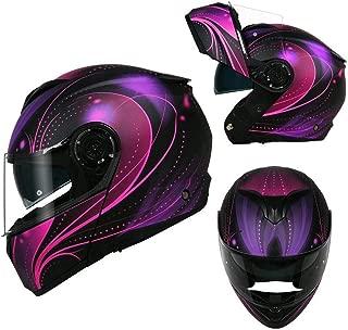 DKZK Full Face Motorbike Helmet, Flip-Up Helmets Safety Helmet Motorcycle Locomotive Full Face Helmets Anti-Fog Personality Cool Men and Women Winter Module Helmet - ECE/DOT