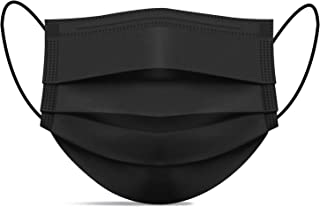 Disposable Face Masks of 50 Pack, Black