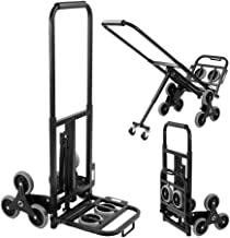 sogesfurniture Enhanced Stair Climber Cart 330lbs Heavy Duty Stair Climbing Cart, Folding Hand Truck, Adjustable Handle Folding Hand Truck with Two Backup and Assistant Wheels for Stair Climbing