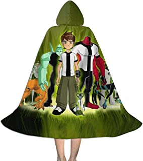 Unisex-Child Halloween Cloak Handsome 10 Ben Full Length Hooded Cape Children Boys Magic Costumes For Christmas Party Cosplay