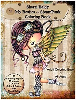 Sherri Baldy My-Besties Steampunk Coloring Book