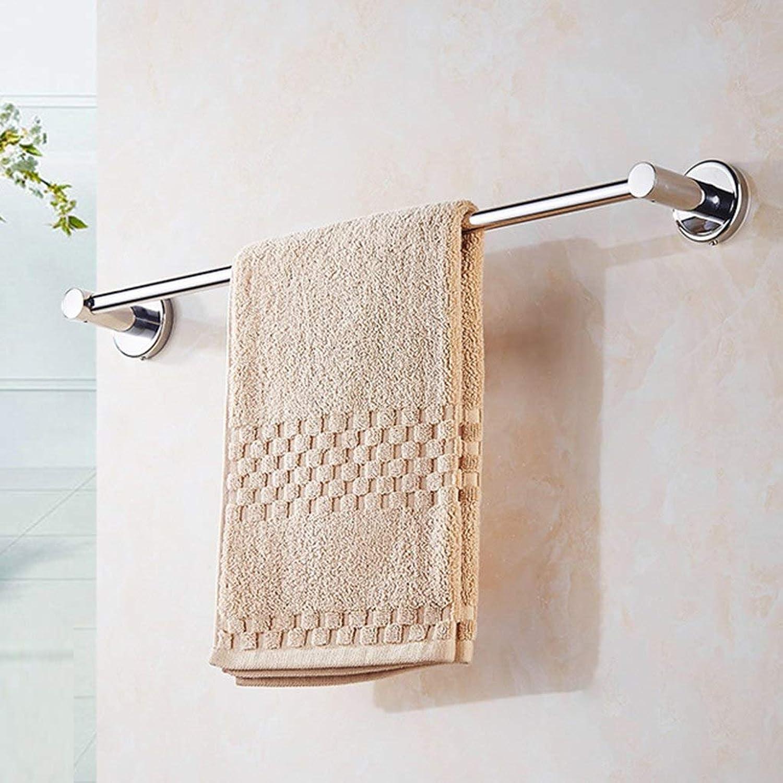 HAZEGACCKitchen Stainless Steel Towel Storage Holders Single Wall Mounted Bracket for Bathroom WC Towel Racks