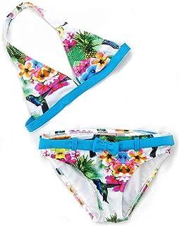 d4388ecddbc2f Maillots de Bain 2 Pièces Enfants Fille Broderie Gland Bikinis Âge 2-16 Ans