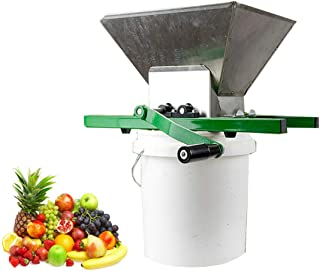JACKBAGGIO - Exprimidor manual de manzana para zumo de manzana, triturador de uva con engranaje de aleación de aluminio sa...