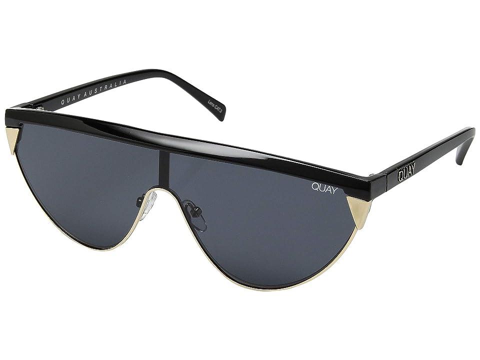 QUAY AUSTRALIA Goldie (Black/Smoke) Fashion Sunglasses