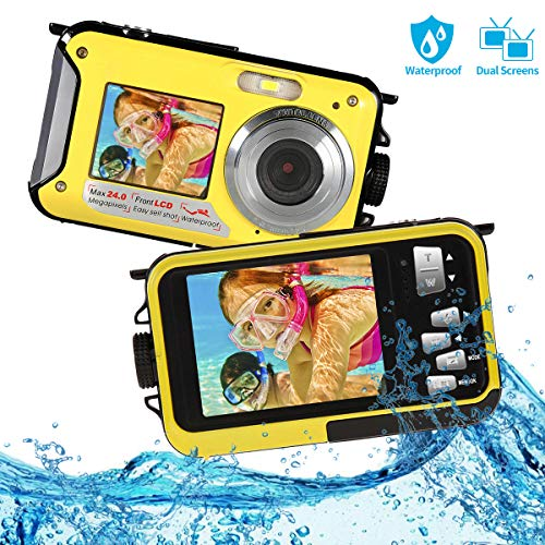 Waterproof Camera FHD 1080P Underwater Camera 24MP Waterproof Digital...