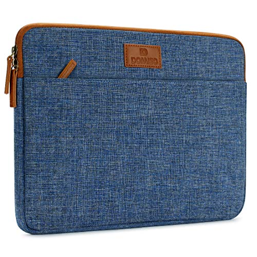 DOMISO 10 inch Tablet Laptop Sleeve Case Waterproof Protective Carrying Bag for 9.7' 10.5' 11' iPad Pro/10.5' iPad Air/Microsoft Surface Go 2018/Samsung Galaxy Tab S3 S4/Lenovo Ideapad D330, Blue