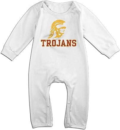 USC Trojans Cute Long Sleeves Variety Baby Onesies Bodysuit For Little Baby