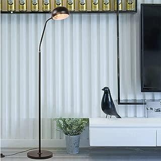 Swyss LED Reading, Craft & Task Floor Lamp - Free Standing Modern Pole Light with Adjustable Gooseneck - Tall Office Reading Light Goes Over Desk