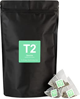 T2 Tea Sencha Green Tea Bags in Resealable Foil Refill Bag, 60-Count