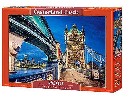 Castorland Tower Bridge of London 2000 pcs Puzzle - Rompecabezas (Puzzle rompecabezas, Ciudad, Niños, Niño/niña, 9 año(s), Interior) , color/modelo surtido