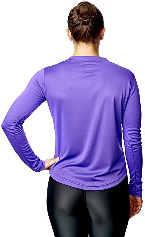 AA Sportswear Damen Langarm Active Fitnesstop T-Shirt Unterschicht Joggen Sport Kleidung Gym Training oder nur Zum Freizeit Atmungsaktiv Material Outdoor-Aktivit/äten Activewear of High Grad