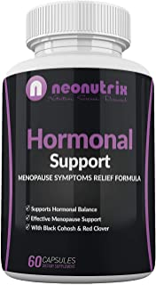 Menopause Relief Supplement Hormonal Support Supplements with Black Cohosh and Red Clover - Support Hormonal Balance, All-...