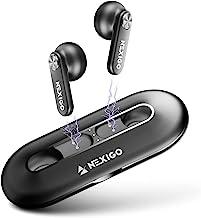 NexiGo Air T2 Ultra-Thin Wireless Earbuds, Qualcomm QCC3040, Bluetooth 5.2, 4-Mic CVC 8.0 Noise Cancelling for Clear Call...