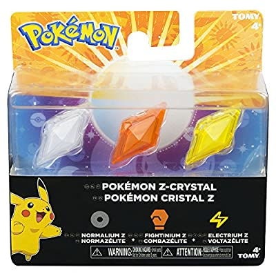 Bizak Pokémon - Pack de 3 Cristales Z-Ring, Normal/Lucha/Electricidad 30699210 de Bizak