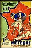 Tour De France 1925, Póster Vintage, Photograph, Cycles, Bicycles, Fashion, Graphic Image, Picture, Black and White, Photo, Old, Retro, Print, Oldschool, 11 x 17 pulgadas (28 x 43 cm)