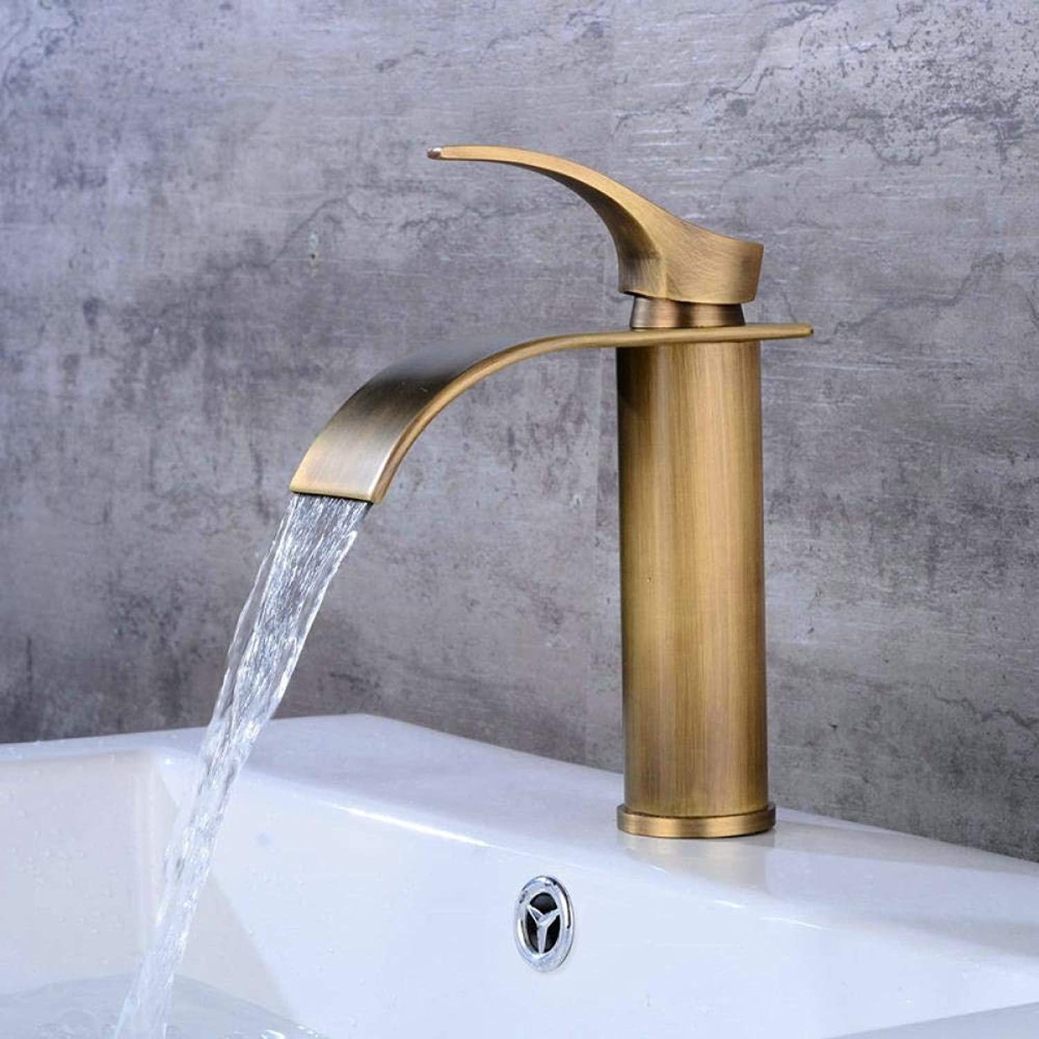Tap Hot and Cold Water Faucet High Section Waterfall Faucet Kitchen gold-Plated Faucet