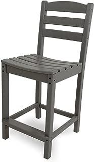 POLYWOOD TD101GY La Casa Café Counter Side Chair, Slate Grey