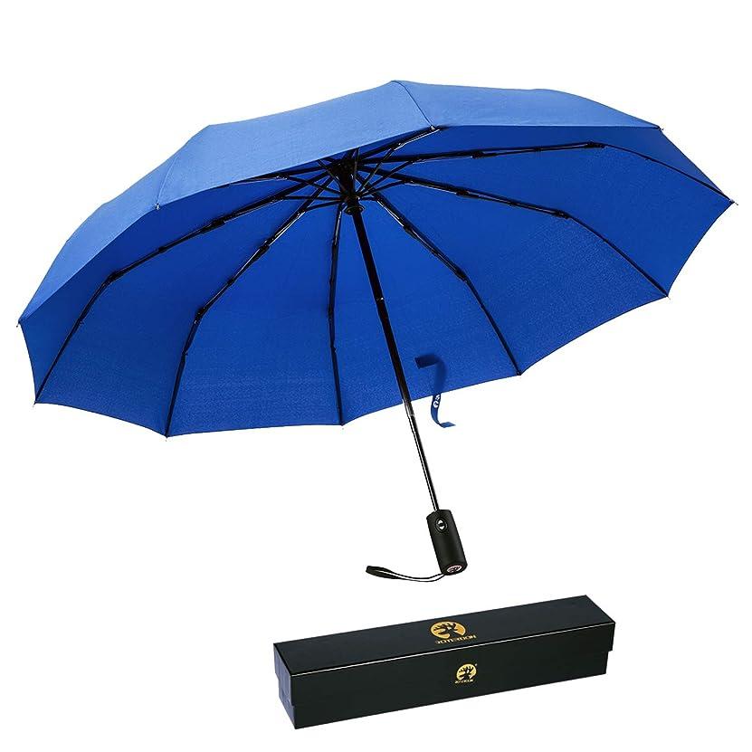 聖書読み書きのできない牽引Roterdon 折り畳み傘 ワンタッチ 自動開閉 10本骨 耐強風 頑丈 梅雨対策 撥水 大きい 男女兼用 高級プレゼント
