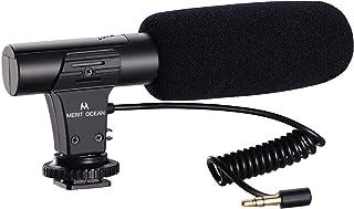 アップグレード版-mic05 外付けマイク meriT Ocean カメラマイク 一眼レフマイク 外部マイク 集音マイク 携帯マイク pc用マイク 一眼レフ 指向性コンデンサーマイク D-SLR 録音用マイク 単一指向性 ビデオカメラ対応 日本語説明書付き