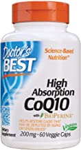 Doctor's Best High Absorption CoQ10 with BioPerine, Gluten Free, Naturally Fermented, Vegan, Heart Health and Energy Produ...