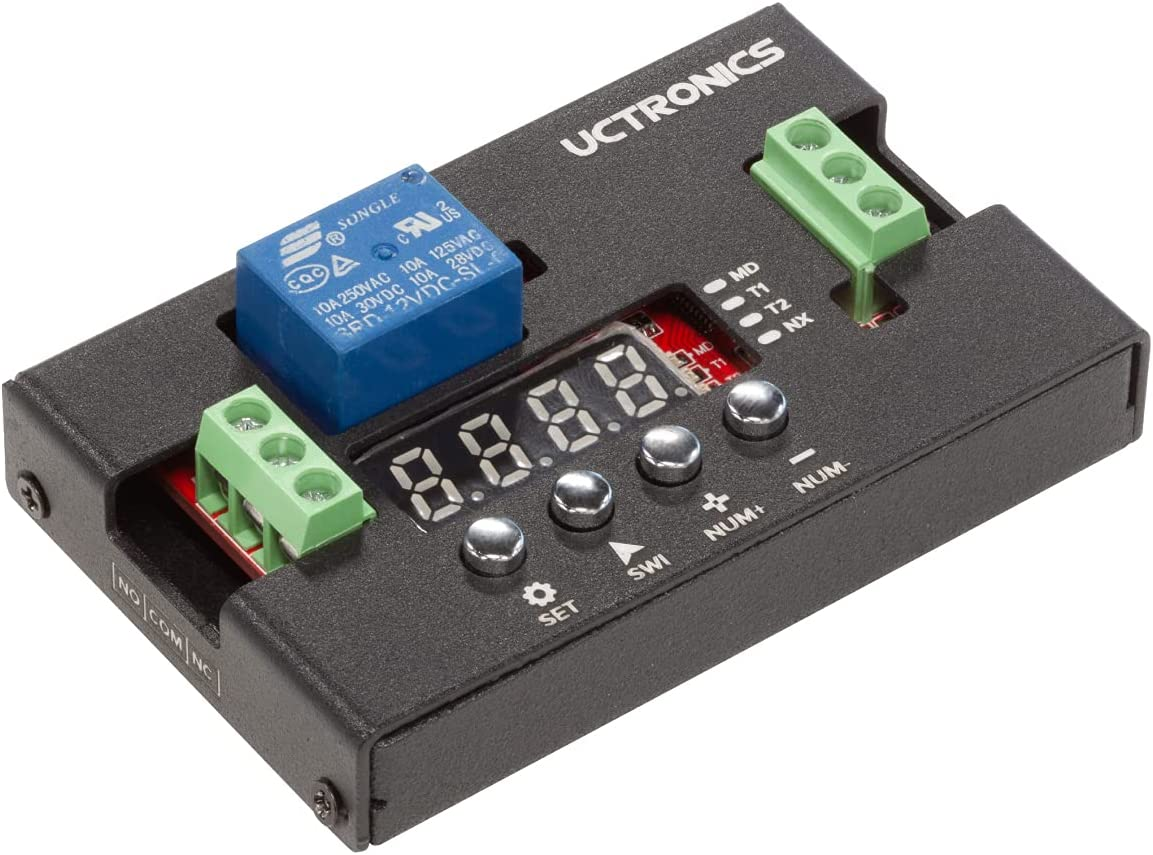 UCTRONICS DC Translated 12V Programmable Time Relay Module with Metal OFFicial store Delay