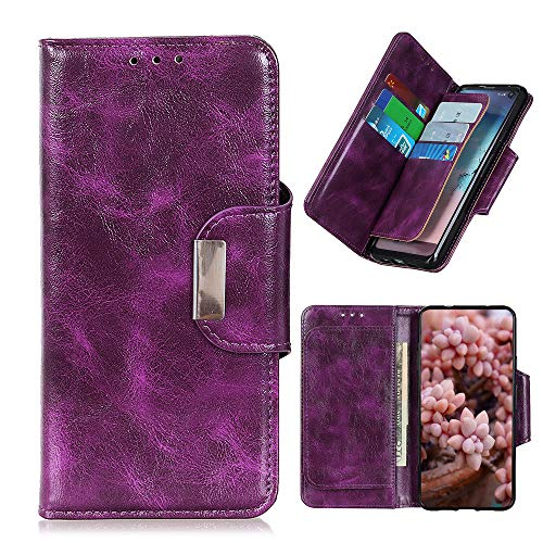 DAMONDY for ZTE Avid 579 Wallet Case, ZTE Blade A3 2020 Case,Premium Magnetic Closure Stand Function Folio PU Leather Flip Cover Inner Soft TPU Case for ZTE Blade A3 2020 -Purple
