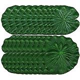 Gurxi 20 Pezzi Piscina per Pesci Foglia di Loto Schiuma con Foglia di Loto Schiuma di Foglie di Loto Artificiale per la Decorazione di Giochi d'Acqua in Parchi Stagni Comuni e Grandi Piscine