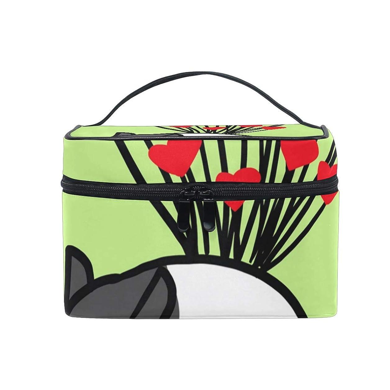 冗談で特別に疑い者メイクボックス Tapir柄 化粧ポーチ 化粧品 化粧道具 小物入れ メイクブラシバッグ 大容量 旅行用 収納ケース