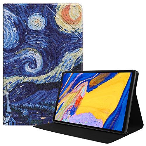 HoYiXi Hülle für Lenovo Tab M10 Plus 10.3 Slim Leder Smart Abdeckung mit der Stand Funktion Tablet Schutzhülle für 10.3 Zoll Lenovo Tab M10 Plus 10.3 TB-X606F/TB-X606X - (sternenklare Nacht)