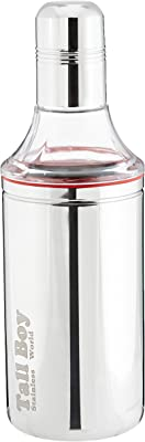 Tallboy Stainless Steel Oil Bottle Jar Dispenser, 750 ml,Set of 3, Silver