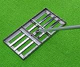 Golf Garden Grass Levelawn, Level Move Drag Mop aus Edelstahl, Hochleistungs-Rasen-Push-Levelawn-Werkzeug mit großer Kapazität Golfausrüstung, professionelles Rasen-Push-Levelawn-Trimmer-Werkzeug.
