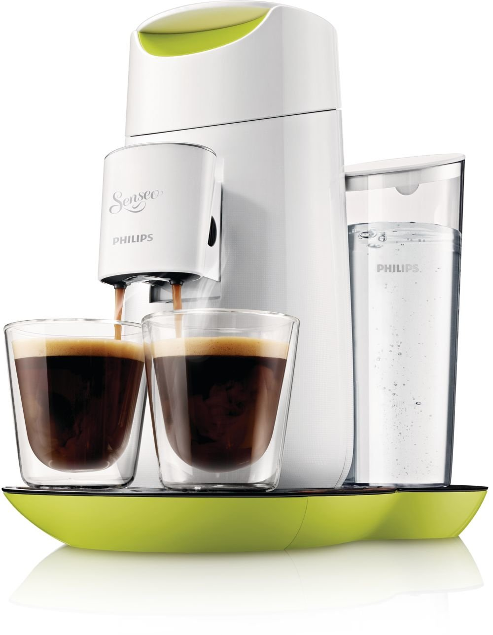 Philips Senseo Twist - Cafetera monodosis, color verde y blanco ...