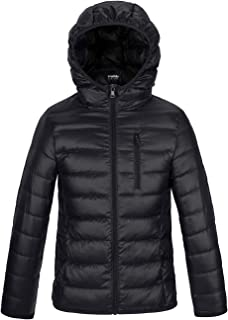 Wantdo Boy's Ultra Lightweight Packable Down Jacket Hooded Warm Winter Coat