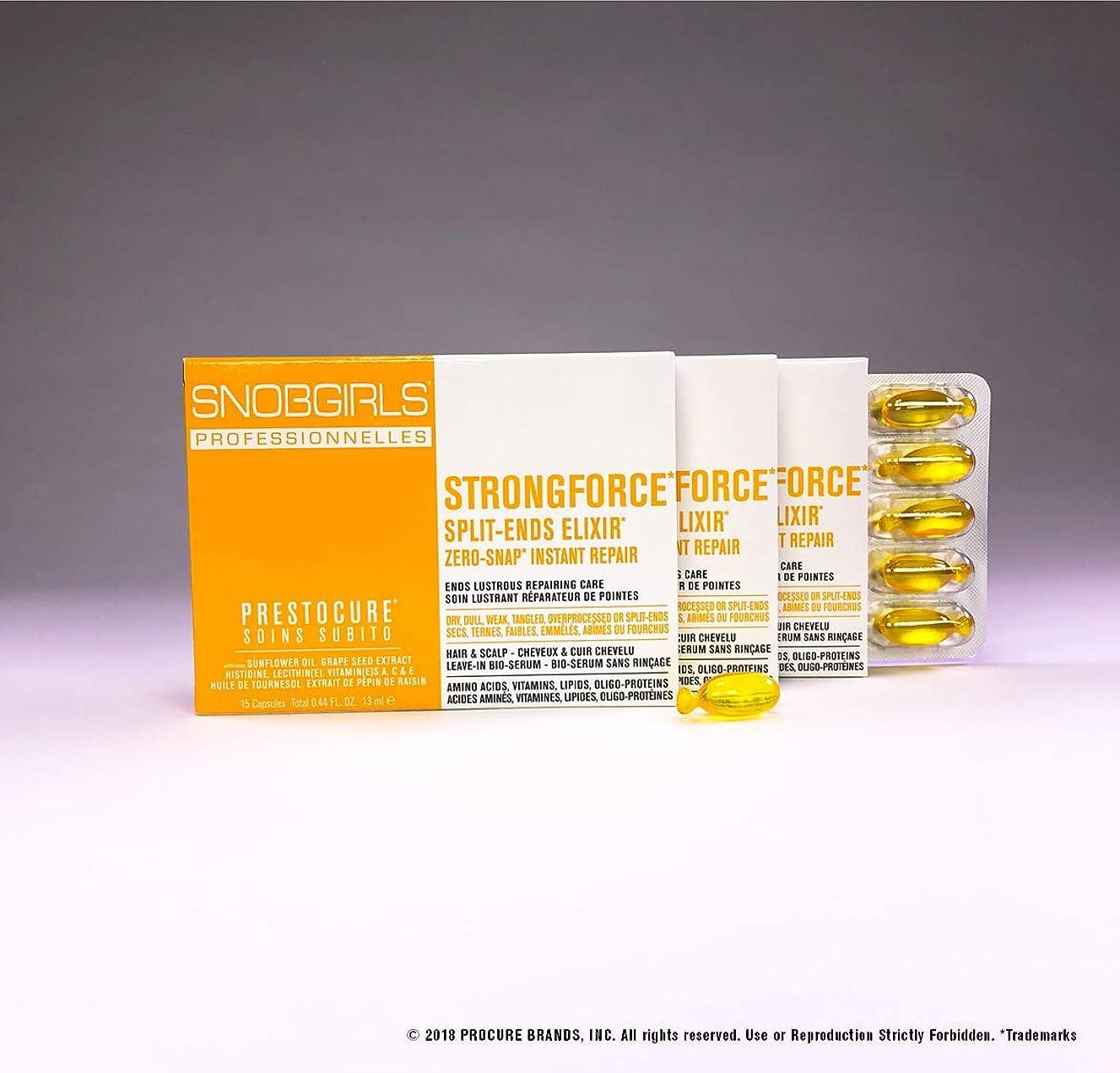 所有権荒れ地クリークSNOBGIRLS STRONGFORCE TWIST-OFF HAIR CAPSULES - 3×15個のパックのパック(合計45個のパック)