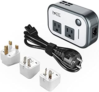 Foval Power Step Down 220V to 110V Voltage Converter with 4-Port USB International Travel Adapter for China UK European Etc - [Use for US appliances Overseas]