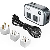Foval Power Step Down 220V to 110V Voltage Converter with 4-Port USB International Travel Adapter...