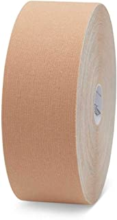 K-Tape Original Latex-Free Kinesiology Tape with High Quality Cotton and Long Lasting Physiobond Adhesive - XXL Large Roll - Beige - 5cmx22m