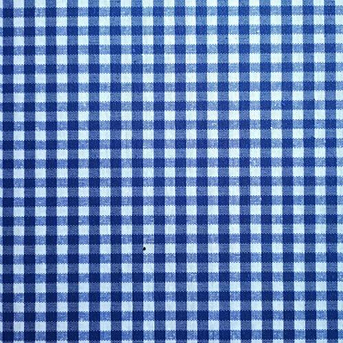 Züchen Karo Stoff Baumwolle blau-weiß 140 cm breit Meterware