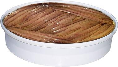 Anchoas de Santoña Gourmet 700gr Pandereta Artesanal con 90 Filetes de Anchoa Original del Mar Cantábrico elaborados a mano uno a uno Artesanalmente en Santoña
