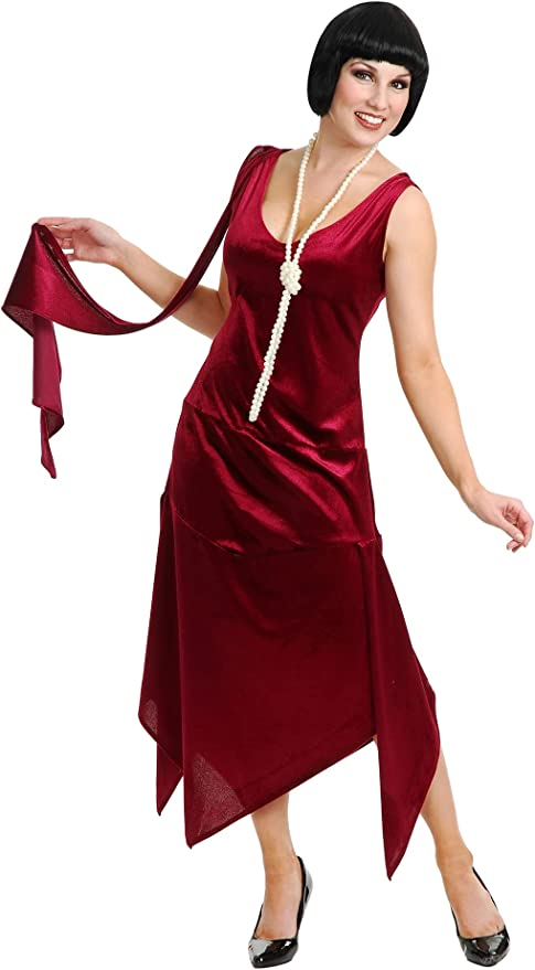 1920s Costumes: Flapper, Great Gatsby, Gangster Girl Charades Womens Sandy Speak Easy Costume Dress  AT vintagedancer.com