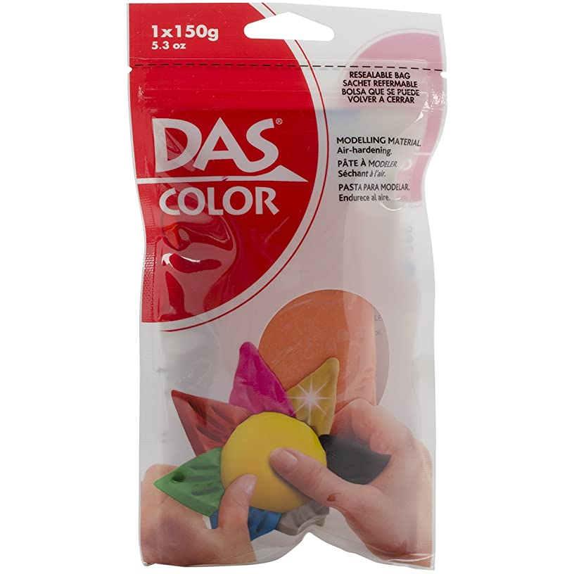DAS Color Modeling Clay 150g (5.3oz) Air-Hardening in Resealable Bag, Orange (00392)