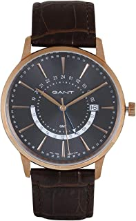 Gant Chester Men's Grey Dial Leather Band Watch - G Gww026004, Analog Display