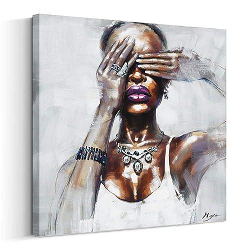 a692976e014 Crescent Art Framed African American Black Art Dancing Black Women in Dress  Wall Art Painting on