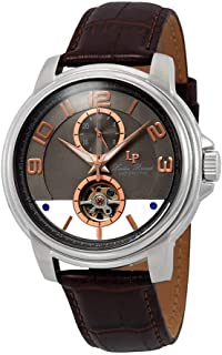 Lucien Piccard Open Heart Automatic Grey Dial Men's Watch LP-28001A-014RA-BRW