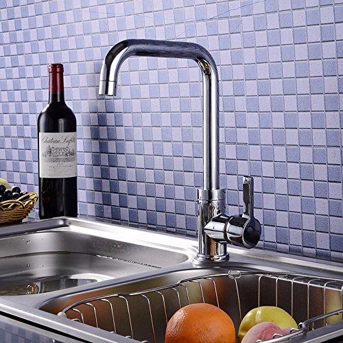 Grifo mezclador para lavabo, WATER TOWER, moderno, con cuerpo de latón y cuerpo de llave de latón, sin plomo, grifo de cocina de agua caliente y fría, de cobre, llave de palanca de baño moderna de lujo