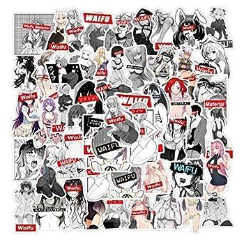 Waifu Stickers 50pcs Sexy Girls Anime Cartoon Waifu Stickers Vinyl Waterproof Decals for Laptop Water Bottle Car Skateboard for Adults Girls Waifu