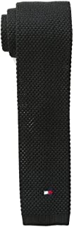 Tommy Hilfiger Solid Knitted Men's Silk Woven Slim Neck Tie