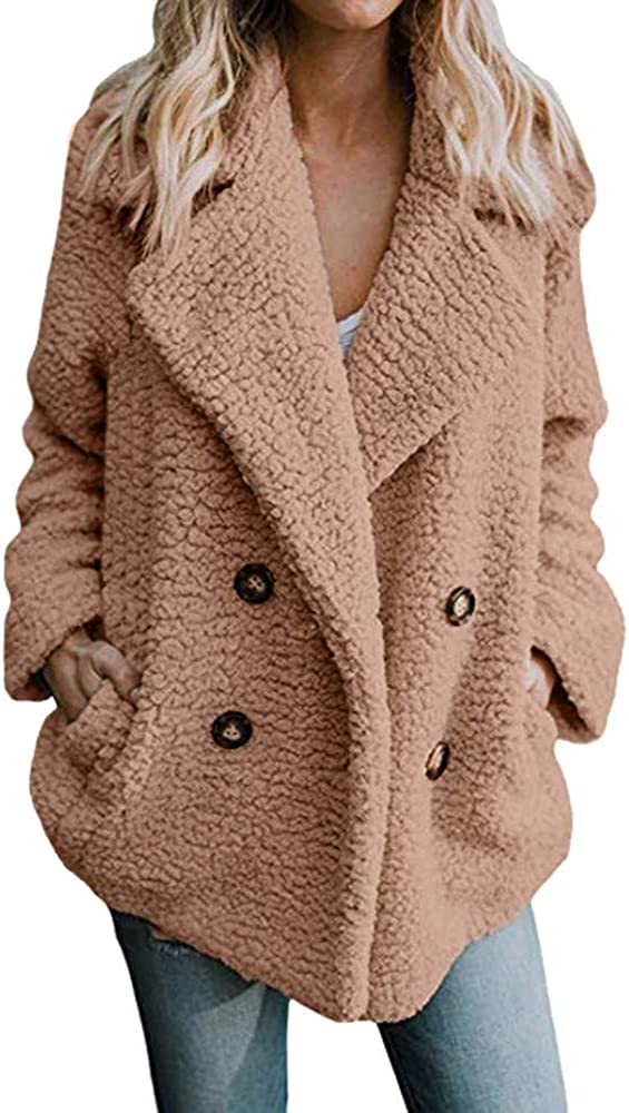 LISTHA Button Parka Jackets Women Casual Warm Outwear Coat Cardigan Overcoat